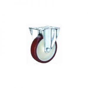 """גלגל אוקולון מצופה פוליאוריטן קבוע + מיסב עד 300 ק""""ג"""