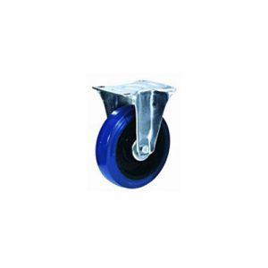 """גלגל גומי כחול קבוע עד 250 ק""""ג (רזיליקס)"""