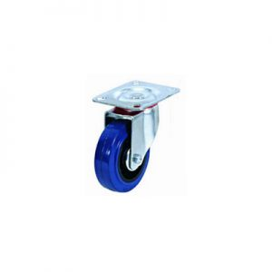 """גלגל גומי כחול פלטה מסתובבת עד 250 ק""""ג (רזיליקס)"""