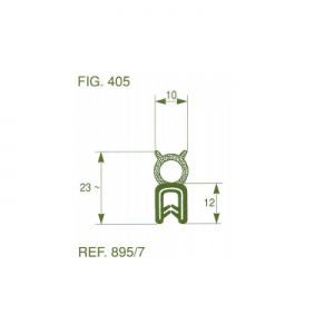 פרופיל קדר PVC סטנדרטי בלון עליון