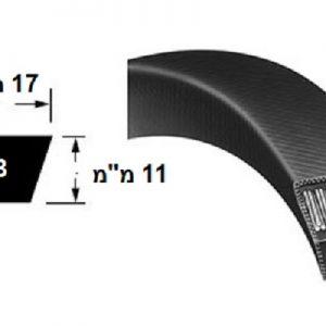 רצועת הנעה חלקה B חתך V