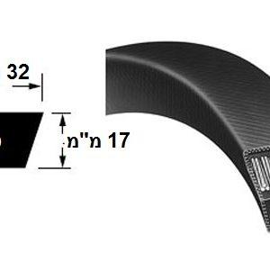 רצועת הנעה חלקה D חתך V