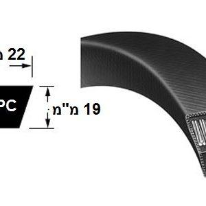 רצועת הנעה חלקה SPC חתך V