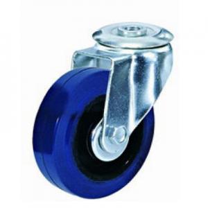 """גלגל גומי כחול חור מתאם עד 180 ק""""ג (רזיליקס)"""