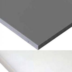 לוח PVC אפור / טבעי