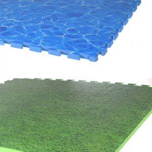 משטח ספוג פאזל ים / דשא