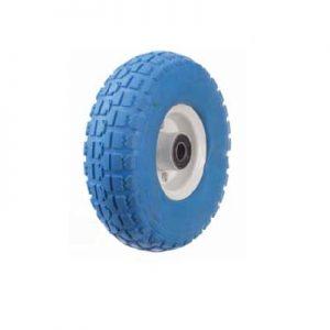 """גלגל 10"""" מוקצף PU מלא בצבע כחול"""
