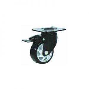 גלגל פוליאוריטן ג'נט PP מזלג שחור